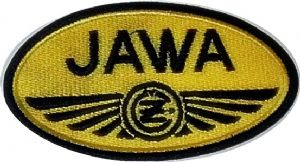 Jawa yellow oval sew-on embroidered patch (yy)